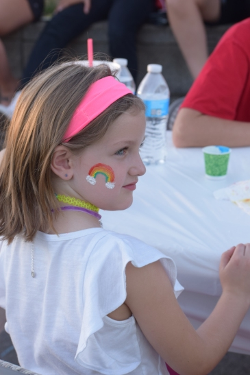 Movie Night 2018 - Rainbow Face Paint